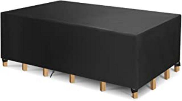 Oferta de Funda Protectora para Muebles, Funda para Muebles de Jardín Impermeable, Cubierta de Mesa de Jardín, Tela 420D Oxford, Imp... por 26,99€
