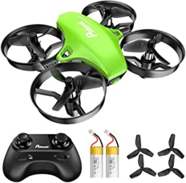 Oferta de Potensic Mini Drone RC Helicopter Quadcopter para Niños y Principiantes con Control Remoto, Modo sin Cabeza, la Función de... por 33,99€