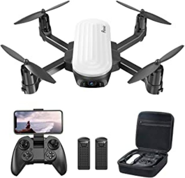 Oferta de Potensic Elfin Mini Drone para niños, cámara 2K, 20 Minutos de Vuelo, 2 batería con Bolsa de Transporte, Adecuado para Int... por 67,99€