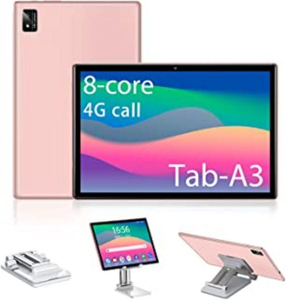 Oferta de Tablet 10.0 Pulgadas Tablets Ultrar-Rápido con 6GB RAM + 128GB (TF 512GB) ROM - Android 10.0 Octa-Core 1.5GHz, Certificaci... por 152,66€