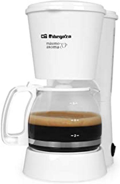 Oferta de Cafetera de goteo ORBEGOZO CG4012B | ORBEGOZO 4-6 tazas por 15,73€