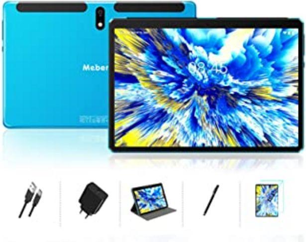 Oferta de Tablet 10 Pulgadas Android 10.0 - Ultrar-Rápido Tableta 4GB RAM+64GB ROM - Certificación Google gsm - 8000mAh |WI-FI|Bluet... por 118,98€