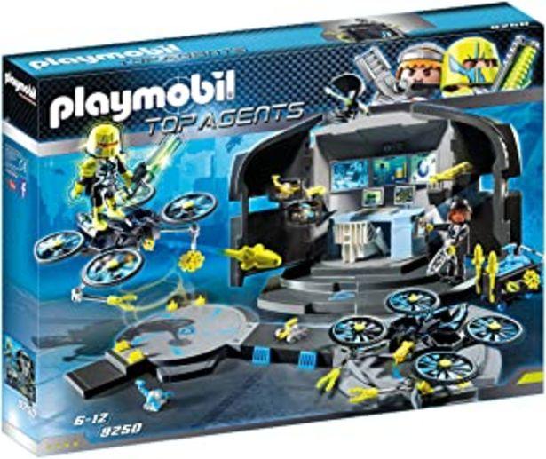 Oferta de PLAYMOBIL Agentes Secretos- Agentes Secretos-Centro de Mando del Dr.Drone Figuras de Juguete, Color Negro, Gris, Amarillo ... por 33,1€