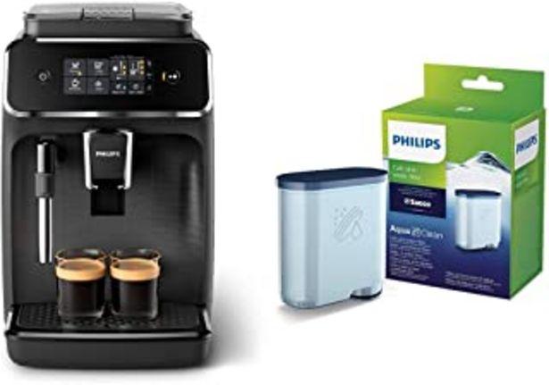 Oferta de Philips EP2220/10 Cafetera superautomática, Acero Inoxidable, Negro Mate + CA6903/10 Filtro de Agua Aquaclean para Máquina... por 319,9€