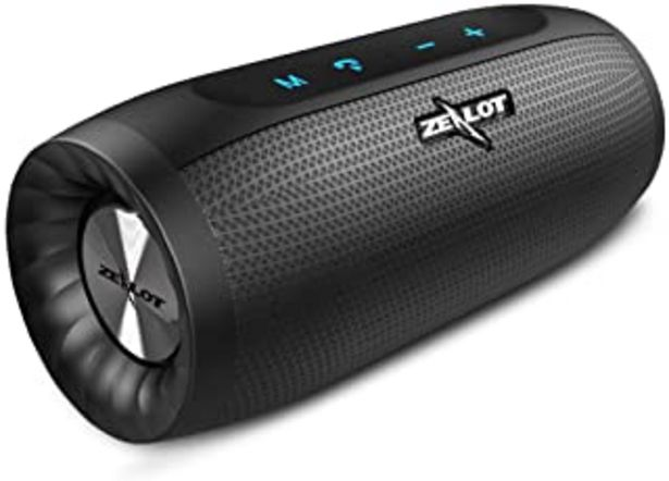 Oferta de ZEALOT S16 Altavoz Bluetooth, Portátil, 20W estéreo, Sonido 360º Envolvente, 2 subwoofers. con Gran batería (función power... por 38,24€