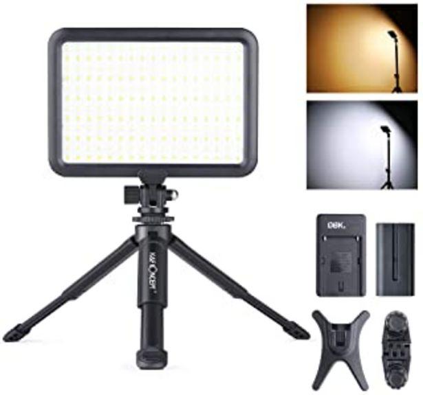 Oferta de K&F Concept Luz de Vídeo LED, Luz Video Panel LED Regulable 3200-5600K para Cámaras Digitales SLR Cámara de Vídeo y Estudio por 57,99€