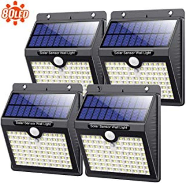 Oferta de Kilponen Luz Solar Exterior,?4 Paquete - 180 °Iluminación ?Foco Solar Exterior con Sensor de Movimiento y 3 Modos Intelige... por 28,95€