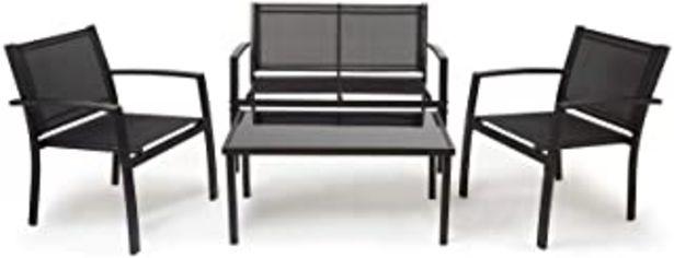 Oferta de IntimaTe WM Heart Conjunto Muebles de Jardín Cafetería Sofá Exterior en Poly Ratán con Conjín, Ideal para Balcón y Terraza... por 139,99€