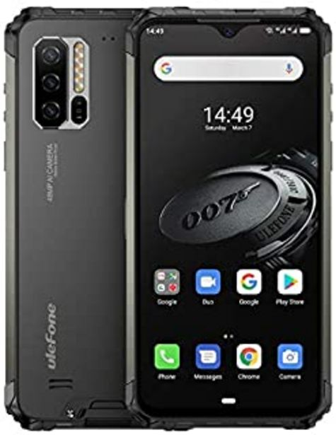 Oferta de Ulefone Armor 7E(2020) Móvil Resistente,Helio P90 Octa Core 4GB RAM + 128GB ROM, cámara 48MP, Pantalla FHD+ 6.3'', Robusto... por 254,99€