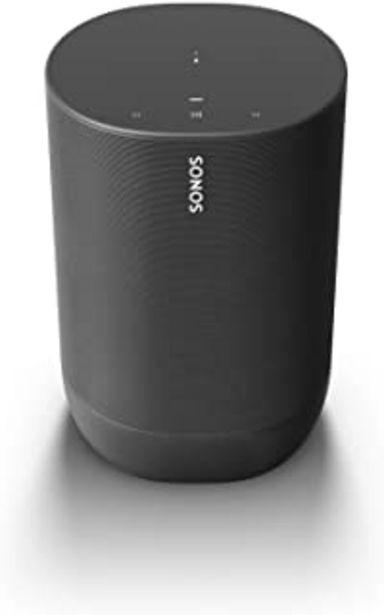 Oferta de Sonos Move - Altavoz Inteligente con Alexa integrada, portátil y Resistente, con batería integrada, para Escuchar música D... por 330,52€