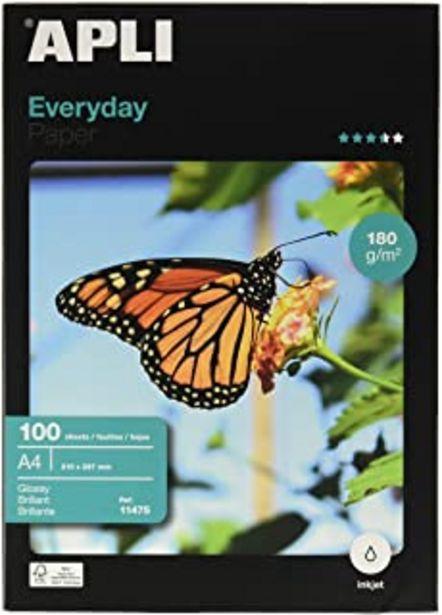 Oferta de Apli Paper 11475 Papel Fotografico A4 Everyday 180GR 100H por 13,21€