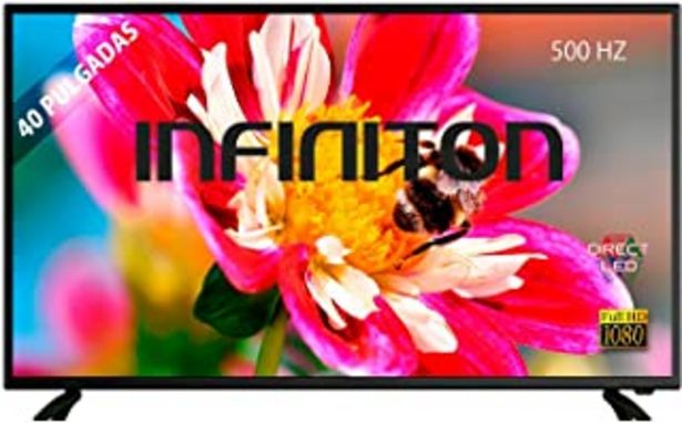 "Oferta de TV LED 40"" INFINITON Full HD - Reproductor y Grabador USB, 3 x HDMI, Modo Hotel por 179€"
