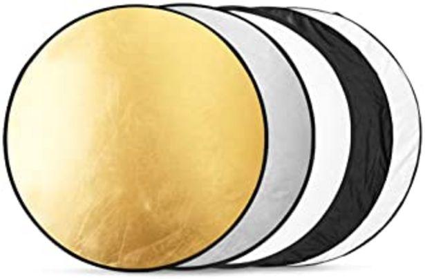 Oferta de BDDFOTO 80cm Reflector de Luz Multi-Disco Plegable 5 en 1 con Bolsa Translúcido, Plateado, Dorado, Blanco y Negro para Fot... por 17,99€