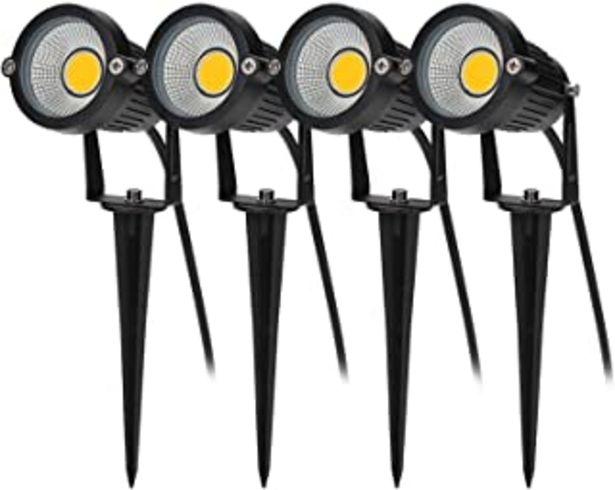 Oferta de BLOOMWIN 4PCS Foco Proyector Exterior Foco COB LED con Estaca Lámpara Luz Blanco Cálido IP65 220V 5W Impermeable LED Bombi... por 38,99€