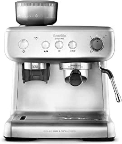 Oferta de Breville Barista Max VCF126X - Máquina de café expreso, totalmente automática con molinillo integrado y bomba italiana de ... por 349,33€