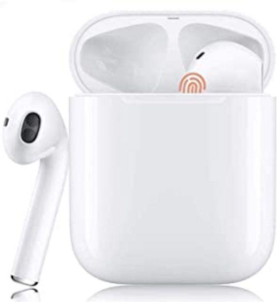 Oferta de Auriculares Bluetooth Sonido Estéreo 3D Cancelación de Ruido Control Táctil Pop-Ups Auto Pairing IPX5 Impermeable Auricula... por 8,9€
