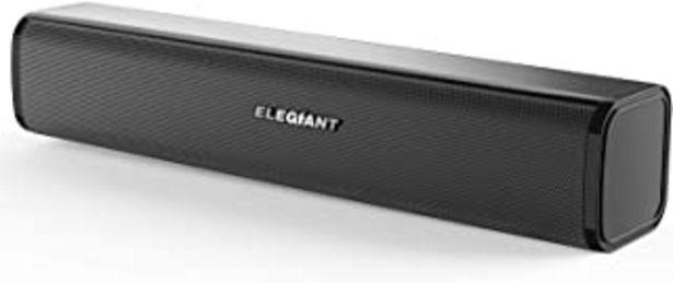 Oferta de ELEGIANT Altavoces PC, Mini Barra de Sonido USB Altavoz Sobremesa Estéreo con Cable para Ordenador con Control de Volumen ... por 19,99€