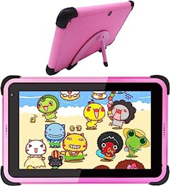 Oferta de Tablet para Niños 7 Pulgadas Android 10 Tablets 2GB + 32GB Certificado por Google GMS 1.6Ghz Tablet Infantil Quad Core WiF... por 99,99€