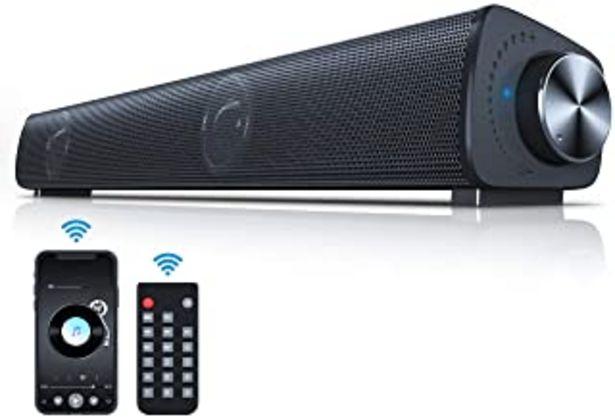 Oferta de VANZEV Barra de Sonido para PC TV con Cable e Inalámbricos Bluetooth 5.0 Altavoces para Computadora con Control Remoto RCA... por 29,98€