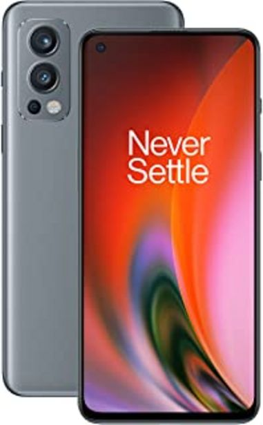 Oferta de OnePlus Nord 2 5G con 8GB RAM y 128GB ROM de memoria con Cámara triple y 65W Warp Charge - 2 años de garantía - Grey Sierra por 385€