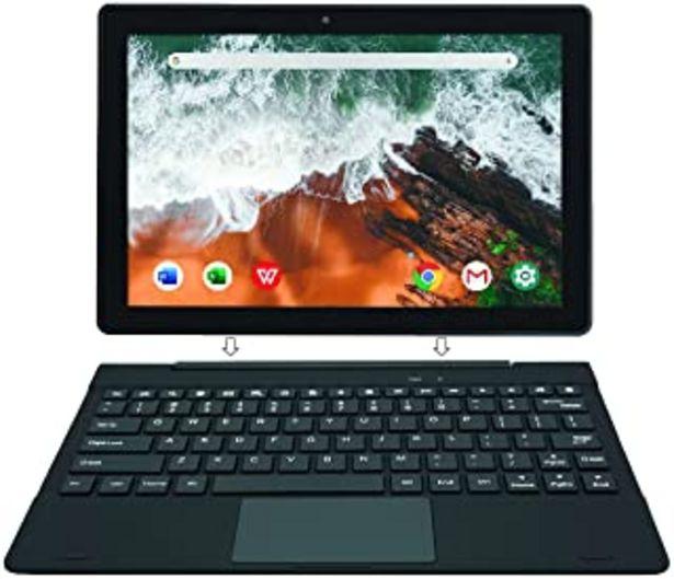 Oferta de [Artículo Adicional 3] Simbans TangoTab 10 Pulgadas Tableta con Teclado, Ordenador Portátil 2 en 1, Android 10, 4 GB RAM, ... por 179,95€
