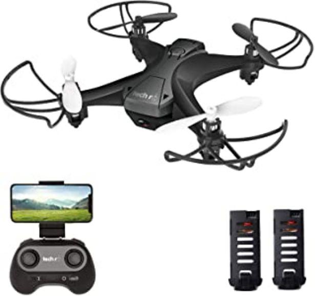 Oferta de Tech rc Mini Drone con Cámara, App WiFi FPV, Modo sin Cabeza, Despegue con Una Tecla y Aterrizaje por Gravedad RTF, Drone ... por 42,49€