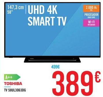 Oferta de TV 58UL3063DG TOSHIBA por 389€