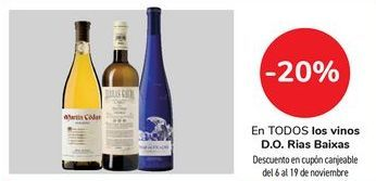 Oferta de En TODOS los vinos D.O. Rias Baixas por