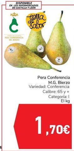 Oferta de Pera Conferencia M.G. Bierzo  por 1,7€