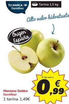 Oferta de Manzana Golden Carrefour por 0,99€
