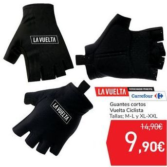 Oferta de Guantes cortos Vuelta Ciclista  por 9,9€