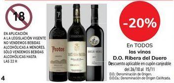 Oferta de En TODOS los vinos D.O. Ribera del Duero por