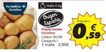 Oferta de Patata lavada Carrefour por 2,95€