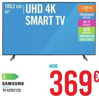 Oferta de TV 43TU7125 SAMSUNG por 369€