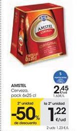 Oferta de Cerveza AMSTEL por 2,45€