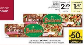 Oferta de Masa maxi pizza finíssima BUITONI por 2,95€