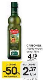 Oferta de Aceite virgen extra CARBONELL por 4,75€