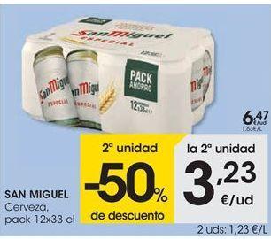 Oferta de Cerveza SAN MIGUEL por 6,47€