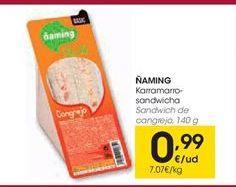 Oferta de Sandwich de cangrejo ÑAMING por 0,99€