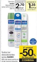 Oferta de Todos los desodorantes spray SANEX  por