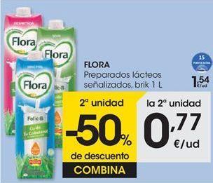 Oferta de Preparado lácteo señalizados FLORA por 1,54€