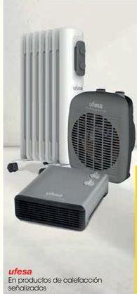 Oferta de En productos de calefacción señalizados Ufesa por
