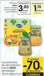 Oferta de Los productos de alimentación infantil HERO por