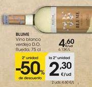 Oferta de Vino blanco verdejo D.O. Rueda BLUME por 4,6€