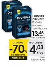 Oferta de Pañañes enuresis HUGGIES DRYNITES por 13,45€