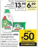 Oferta de Detergente cápsulas 3en1 ARIEL por 13,99€