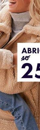 Oferta de Abrigo Beige Mujer por 22€