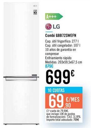 Oferta de Combi GBB72SWEFN LG por 699€