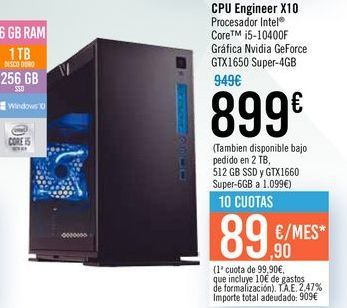 Oferta de CPU Engineer x10 por 899€