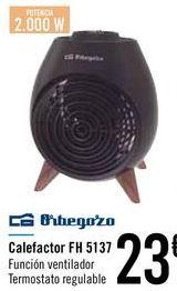 Oferta de Calefactor FH 5137 Orbegozo  por 23€
